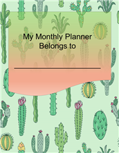 Cactus Monthly Planner